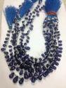 Blue Sapphire Smooth Drops Bead Strands Gemstones