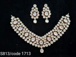 Kundan Meena Polki Necklace Set