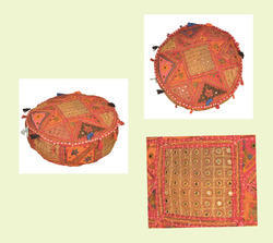 Ottomans, Footstools & Poufs Collection Here Lot Of Khambadia Designer Embroidered Decorative Cotton Ottoman Pouf Cover 03 Clients First