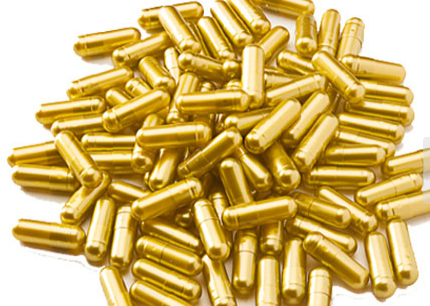 Empty Golden Gelatin Capsules