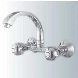 Silver Brass Oriental Series Sink Wall Mixer