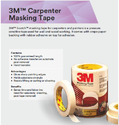 3M Carpenter Masking Tape