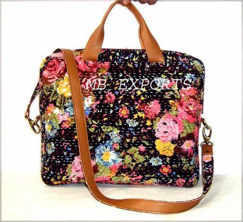 Zipper Kantha Quilt Laptop Bag