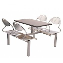 Stainless Steel Canteen Table With Chair