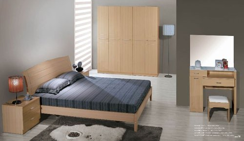 wooden mdf double bed at rs 22500 piece s wooden full size bed rh indiamart com