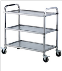 Three Tier Stainless Steel Dining Cart