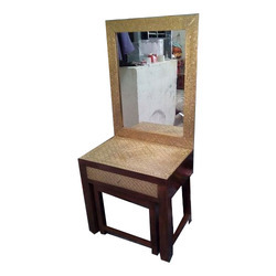 Wooden Brass Dressing Table