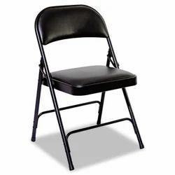 Black Mild Steel Folding Chair