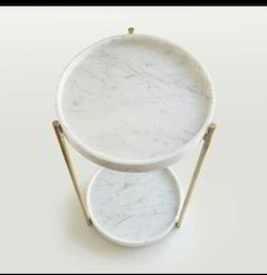 Marble and Brass Rack