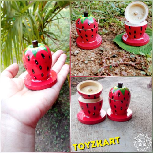 Strawberry Home Decor   Home Decor Wooden Colorfull Vases Manufacturer From Bengaluru