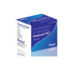 Finished Product Femitrol MZ Tablet, Packaging Type: Box, <100 mg