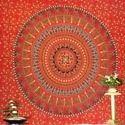 Jaipuri Bandhej Mandala Tapestry