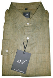Taye Fashions Khaki Linen Casual Shirt
