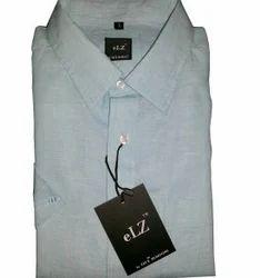 Blue Linen Casual Shirt