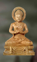Buddha-jnana Mudra Wooden Sculpture
