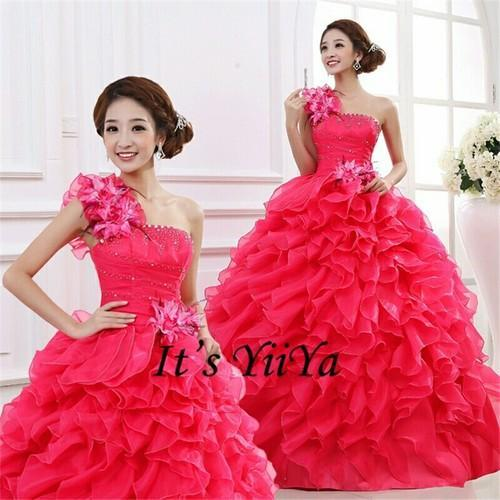 Red Pink Blue Yellow Chiffon , Net Pink Ruffle Wedding Gown, Rs ...
