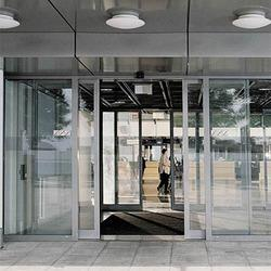 Automatic Sliding Door System with Thermal Break Profile