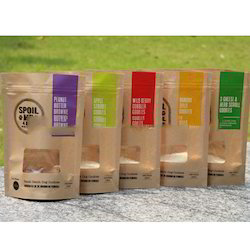 Plastic Jute Look Pouches With Zipper