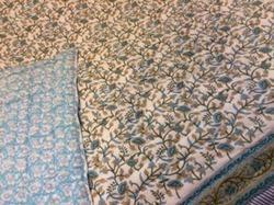 Queen Blue Jaal Quilt, Size: 60x90 Inch, 90x108 Inch