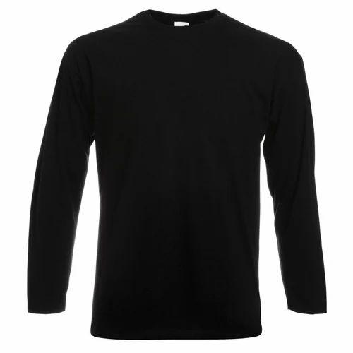 f120adbe1b45 Round Neck Plain Full Sleeve T Shirt, गोल गले की टी ...