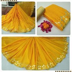 Yellow Border Designed Wedding Patola Sarees