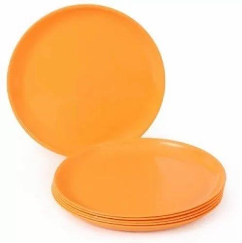 Microwave Plastic Quarter Plates 6 Pcs