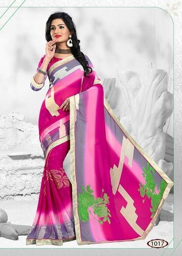 75f343f2aa Georgette Casual Wear Navratri Special Offer Saree, 6 m (with blouse piece)