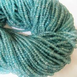 Aquamarine Rondelle Faceted Beads