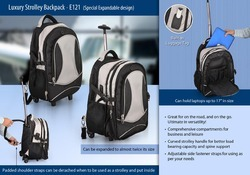 A&BM Polyester E121 Luxury Trolley Backpack, Number Of Compartments: Three, Bag Capacity: Up To 17