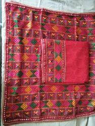 Unstiched Phulkari  Suit Material