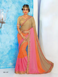 Designer Multi Color Sarees