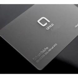 Transparent business card at rs 5 piece transparent business card pvc business card reheart Images