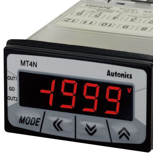 Autonics Mt4n Rpm Digital Panel Meter For Industrial Dimension