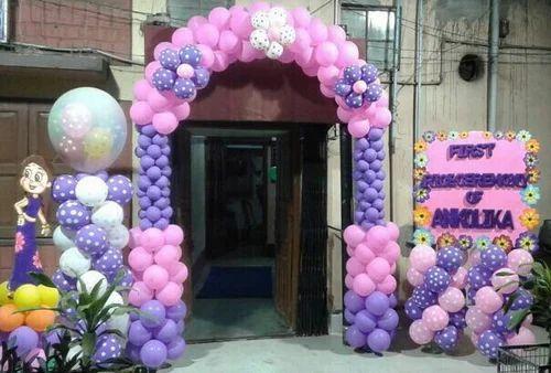 Birthday Balloon Gate Decoration Servive Area Size 5000 Sqaure Feet