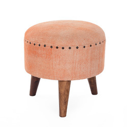 Classy Round Wooden Stool