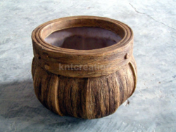 Barrel Wood Planter