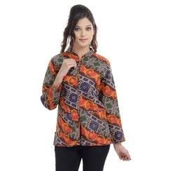 Indian Printed Cotton Ladies Jacket