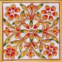 Floral Design Marble Tile, Thickness: 8-10 mm