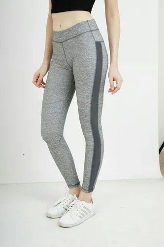 Black Grey Polyester Ladies Gym Wear 7d0e5160a
