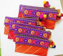 Red Rani Yellow Pink Cloth Designer Shagun Envelope