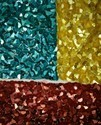 Bended Sequins Embroidered Fabric