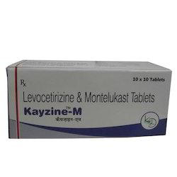 Kayzine-M Levocetirizine And Montelukast Tablets, For Clinic, Packaging Type: Box