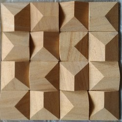 Teakwood Sandstone Matt Natural Stone Wall Tile, Thickness: 20mm, Size: Large (12 inch x 12 inch)