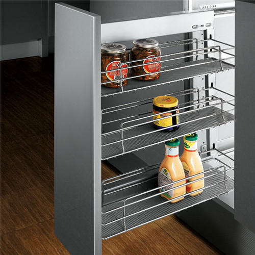 Kitchen Cabinet Baskets: Stainless Steel Pull Out Baskets At Rs 1250 /unit