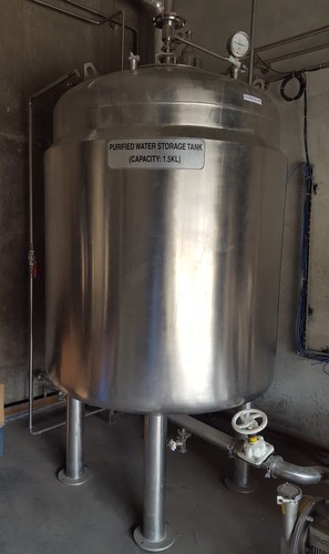 Metal Purified Water Storage Tank