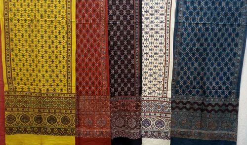 Cotton Ajarakh Hand Block Print Stole, सूती स्टोल - Liya Exports, Bhuj |  ID: 14505393873