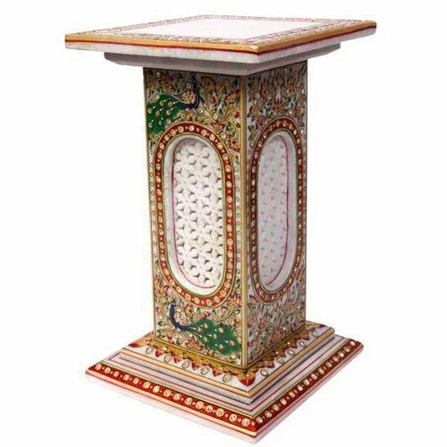 Marble Corner Pillar Stand MB030