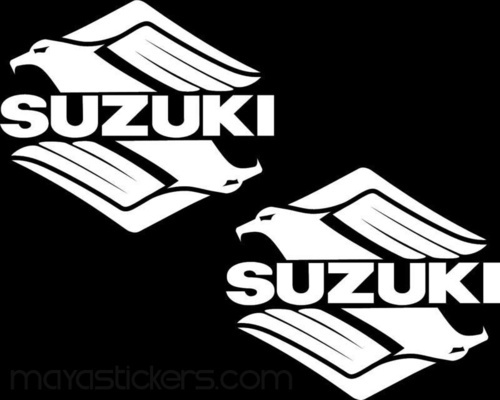 Stylized suzi logo vinyl stickers and decals