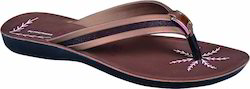 Poddar Ladies Brown Slipper