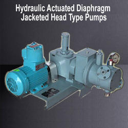 Hydraulic Actuated Diaphragm Jacketed Head Type Pumps